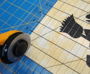cutting the blocks into 1 inch strips using the shapecut tool