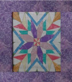 painted block with purple border