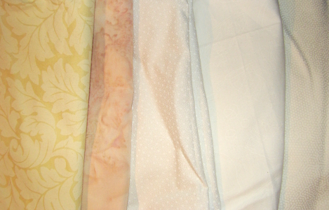 light colored fabric selection