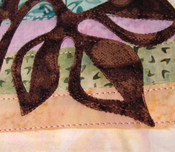 double applique stitching with a single needle