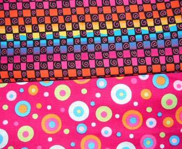bright fun colored fabric