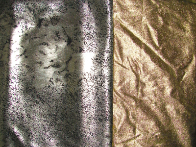 gold and silver glitzy fabrics