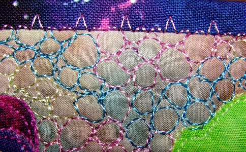 decorative stitching on binding