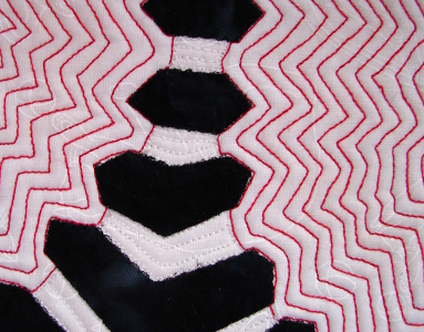 echo quilted red lines
