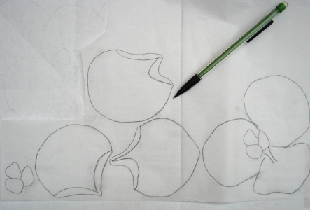 sections drawn on fusible webbing