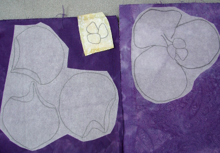 fusible pressed to back of fabric