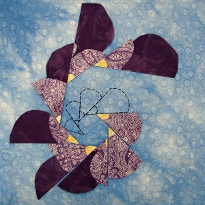 duplicating design for quilting inner spiral