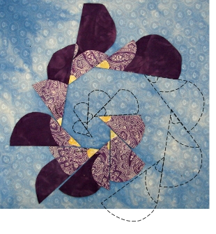 both inner and outer quilting designs used