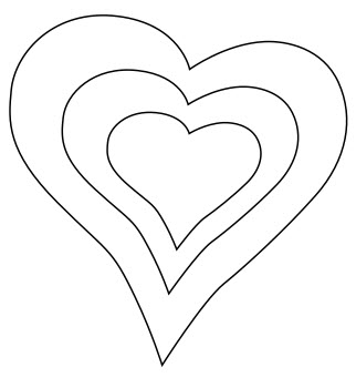 Heart template to download