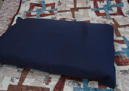 navy pillow slip
