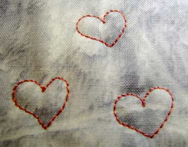 single hearts freemotion stitched