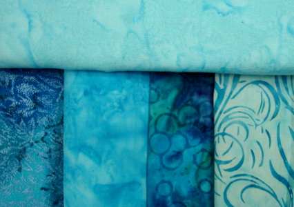 new blue fabric selection