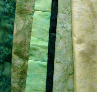 green hoffman fabrics - bali watercolors
