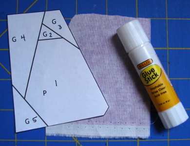 glue ready to stick fabric on foundation