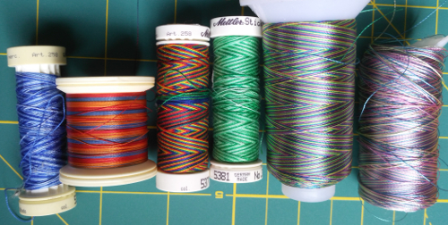 colorful variegated threads