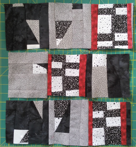 sewing blocks into strips
