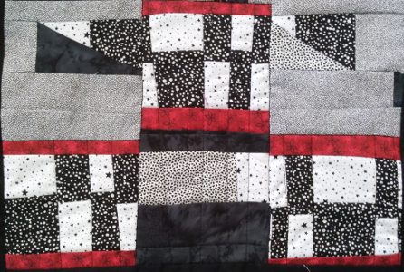 free motion quilting straight lines
