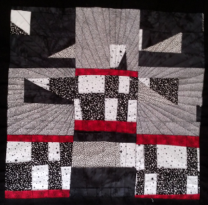 free motion quilting straight lines finished