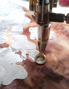 beginning edge stitching with free motion