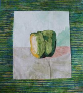 pepper quilt for Still Life Workshop