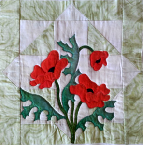 free applique block