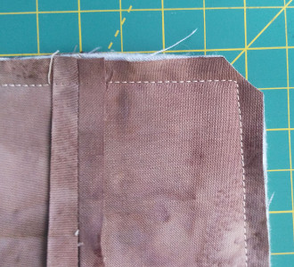 seam fixed with seam pressed open