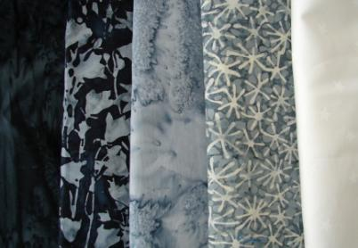 neutral fabrics - black, grey and white
