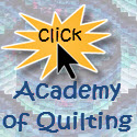 over 100 quilting classes available at the Academy of Quilting