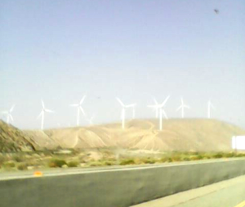 traveling thru desert - windmills in California