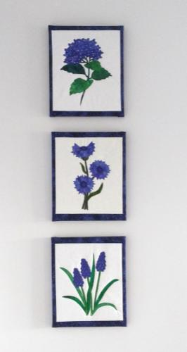flower blocks framed and mounted for presentation