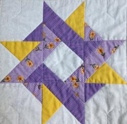 Entwined Star using Lavendar 30s fabrics