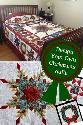 design your own Christmas quilt pattern with Anita Eaton's award winning quilt