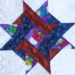 entwined star christmas block by Anita Eaton