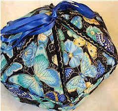 barbara dieges' victorian box using blue butterfly fabric