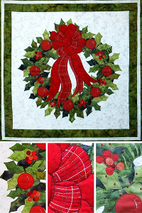 Ruth Blanchet's Christmas Holly Wreath online workshop