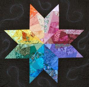 Crazy and sane lonely star quilt by Cindy Thury Smith