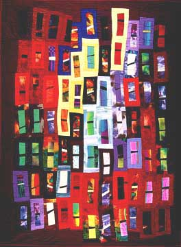 "More Abstract Art for quiltmakers - ""warmlight"" by Elizabeth Barton"