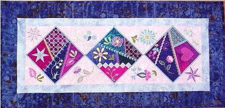 embroidery on patchwork project