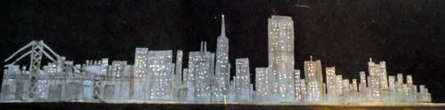 City with lights