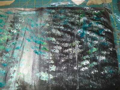 creating background for winter wonderland project