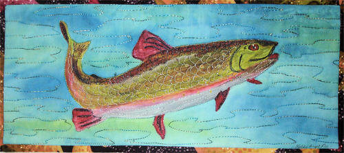 Kathy's fabric painted salmon