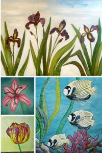 Marjorie McWilliams Fabric Painting online workshop