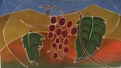 Grapes batik by Marjorie McWilliams