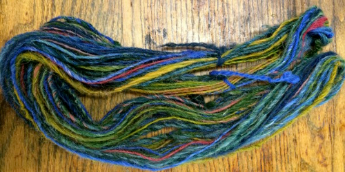 dyed yarn in a hank