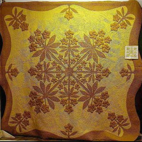 Nancy's first Hawaiian quilt made in 1978