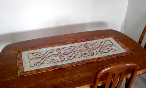 celtic knot table runner - a Nancy Chong design - made by Ruth Blanchet