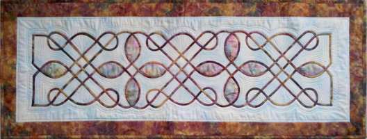 celtic knot table runner by Ruth made in Nancy Chong's online workshop