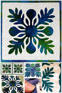 images from Nancy Chong's hawaiian quilting 101 workshop