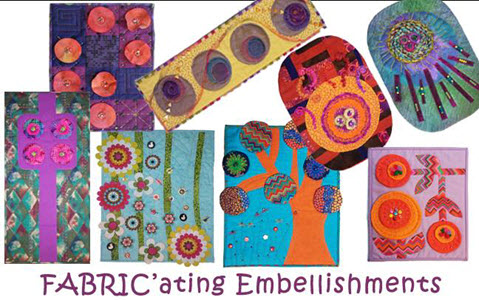 eight Fabric' ating Embellishments workshop projects