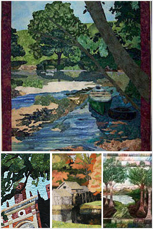 Inspiring quilts by Susan Brittingham for Landscapes from photo to quilt